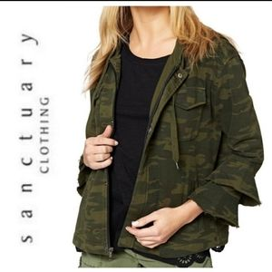 sanctuary from Evereve camo zip jacket med…